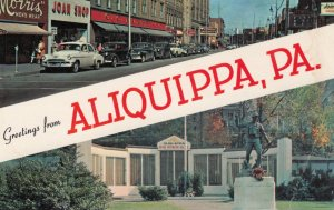 ALIQUIPPA, Pennsylvania, 1950-60s; Greetings, Franklin Avenue and Soldiers Me...