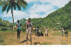 VooDoo Stick Dancers, Road to Citadel , Haiti , 40-60s