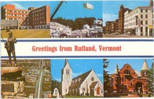 Scenes Greetings from Rutland Vermont VT