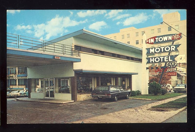 Chevy Chase Maryland Md Postcard In Town Motor Hotel 1960 S Cars