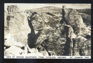 RPPC MT. LEMMON ARIZONA RINCON MOUNTAINS CATALINA HIGHWAY PHOTO POSTCARD