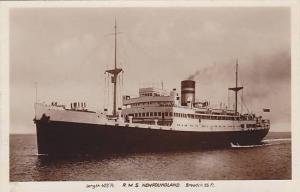 RP: Furness Warren Line Ocean Liner R.M.S. NEWFOUNDLAND , 30-40s