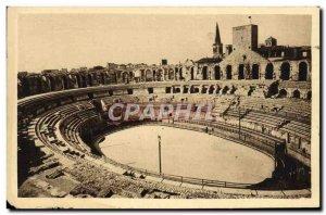 Old Postcard La Douce France Arles Vue Generale From & # 39Interieur Des Arenes