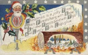 Santa Claus, Christmas, Old Vintage Antique Postcard Post Card