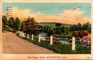 Pennsylvania Greetings From Kutztown 1943