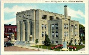 1920s Caldwell County Court House Princeton Kentucky Postcard