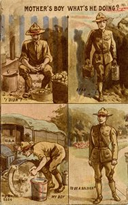 Military, WWI - Mother's Boy, What's He Doing?