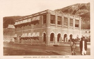 Aden Yemen Steamer Point National Bank of India Real Photo Postcard JJ649586