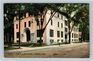 Clinton IA YMCA Building Young Men's Christian Association Vintage Iowa Postcard