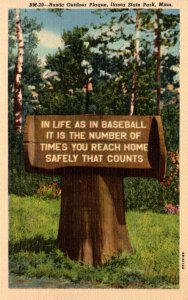 Minnesota Itasca State Park Rustic Outdoor Plaque Curteich