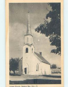 1940's CHURCH SCENE Seeley'S Bay - Near Gananoque & Kingston Ontario ON A9307