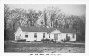 F61/ Bay Village Ohio Postcard c1940s Bay Youth Center Building