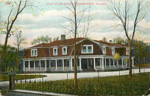 c1907 Postcard; Golf Club House, Government Island OR Multnomah County Posted