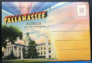 Tallahassee State Capitol College Folder Florida Vintage Postcard
