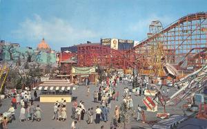 Santa Monica CA~Pacific Ocean Park~Roller Coaster~Octopus~Magic Carpet~1950s PC