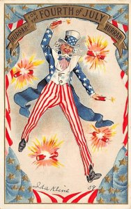Uncle Sam Fourth of July USA Postal Used Unknown