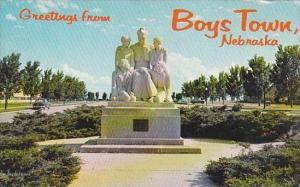 Nebraska Boys Town Statue Of Father Flanagan And Boys