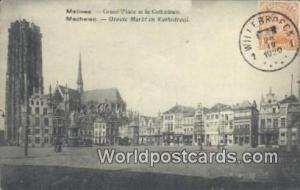 Malines, Belgium, België, la Belgique, Belgien Grand Place et la Cathedrale ...