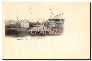 Postcard Old Mahajanga Madagascar Avenue Du Rova