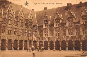 Belgium Liege Palais de Justice Palace Postcard
