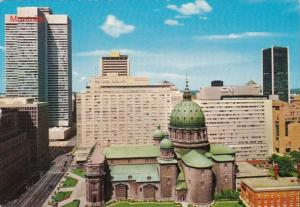 Canada Montreal Dorchester Boulevard Showing Mary Queen Of The World Cathedral