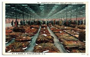 Loose Leaf Tobacco Warehouse, Winston-Salem, NC Postcard *5E4