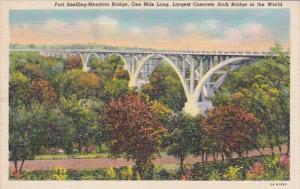 Minnesota Fort Snelling-Mendota Bridge Largest Concrete Arch Bridge In The Wo...