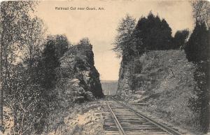 F31/ Ozark Arkansas Postcard c1910 Railroad Cut Tracks