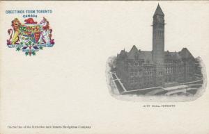 TORONTO , Ontario, 1900-10s ; City Hall # 4