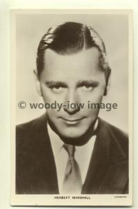 b0113 - Film Actor - Herbert Marshall - Picturegoer Postcard 750