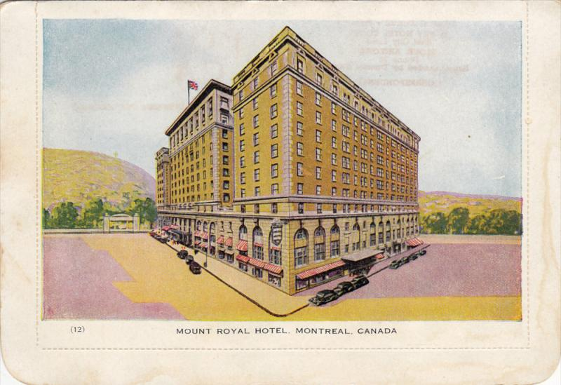Mount Royal Hotel Montreal Quebec Canada 1910 1920s