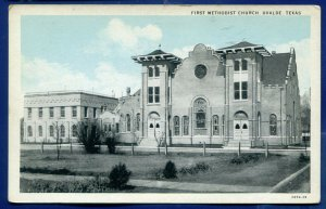 Uvalde Texas tx First Methodist Church old 1930s postcard