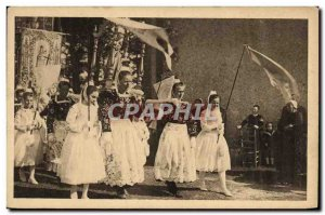 Old Postcard Forgiveness of Sainte Anne Palue Folklore