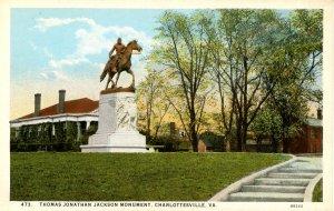VA - Charlottesville. Confederate Thomas (Stonewall) Jackson Monument