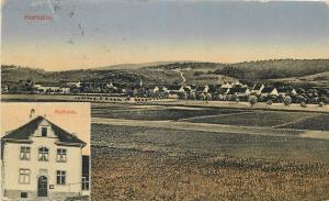 AK Horheim Rathaus ( Town Hall ) und Panorama 1921 Germany