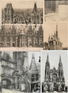 France Rouen  Postcard Lot of 8 RPPC and Printed 01.04