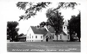 Wisconsin WI Real Photo RPPC Postcard c1940s RIO Redeemer Lutheran Church