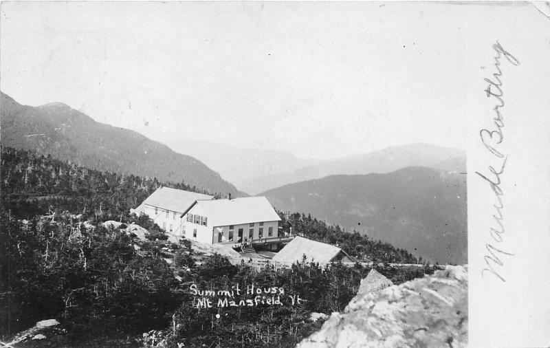 Mount Mansfield Vermont~Summit House~by Underhill in Chittenden County~1911 RPPC