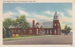 Georgia Lyons First Baptist Church And Pastorium