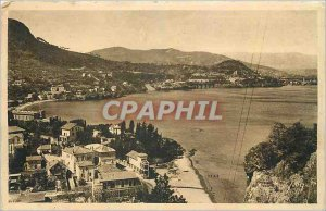 Old Postcard French Riviera Theoule sur Mer Alpes Maritimes Panoramic Bay and...