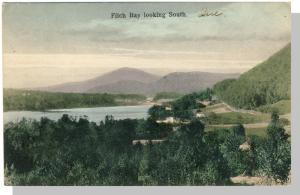 Fitch Bay, Quebec, Canada Postcard, Looking South/Mountains