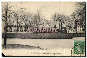 Saint Maixent Old Postcard General view of military & # 39ecole
