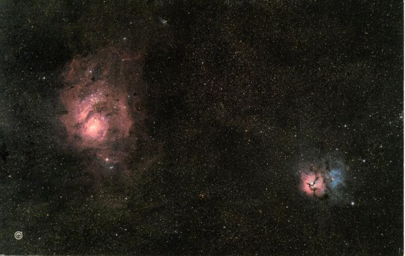 Lagoon & Trifid Nebulae in Constellation of Sagittarius (Astronomy)