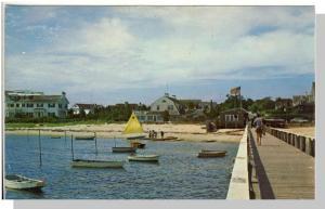 Hyannisport Yacht Club Postcard, Hyannis, Massachusetts/MA, Cape Cod, Long Pier