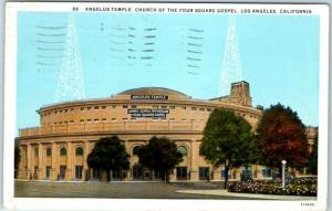 1931 Los Angeles CA Postcard ANGELUS TEMPLE of the Four Square Gospel Church
