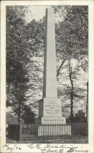 Gnadenhutten OH Massacre Christian Native Indians Monument 1906 Postcard