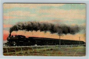 St Albans VT-Vermont, New England States Limited Railroad, Vintage Postcard