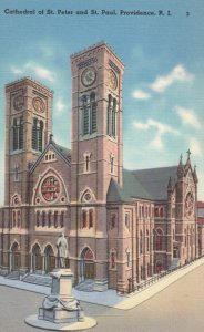 PROVIDENCE, Rhode Island, 1930-40s; Cathedral of St. Peter and St. Paul