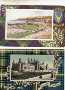 P1746 2 scotland gardens pavilion & art gallery glasgow, 1 1949 postmark