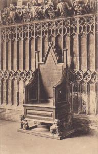 England London Coronation Chair Of Mary II Westminster Abbey